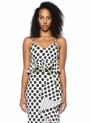 Stella&Amelia Stella McCartney 101312133 Pepolina Puanlı StreÇ Crop Renkli Kadın Bluz Siyah